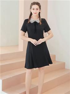 艾诺绮女装艾诺绮黑色连衣裙