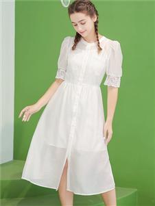 艾诺绮女装艾诺绮白色连衣裙