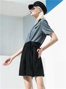 2021音菲梵女装夏装黑色短裤