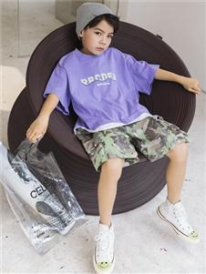 城秀童装2021城秀夏装新款紫色T恤