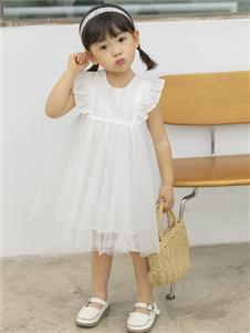 2021城秀夏装新款白色纱裙