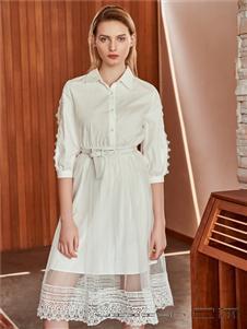 2021己闲夏装白色连衣裙