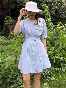 2021桔尚夏装衬衫连衣裙