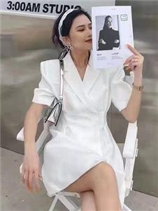 2021桔尚夏装气质连衣裙