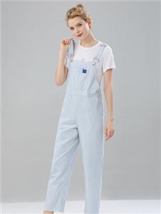 2021桔尚夏装浅蓝色背带裤