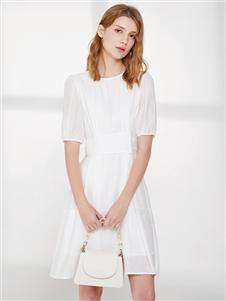 2021丽芮夏装白色纱裙