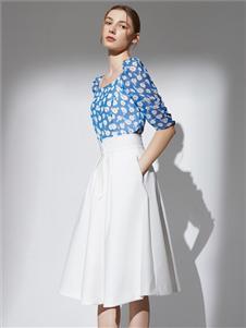 2021奥伦提夏装白色半身裙