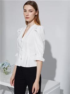 2021奥伦提夏装白色衬衫T恤
