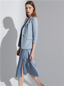 2021奥伦提夏装薄款西装外套