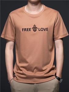 PLOVER啄木鸟字母印纹时尚T恤