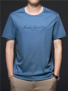 PLOVER啄木鸟蓝色T恤