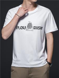 PLOVER啄木鸟白色短袖T恤