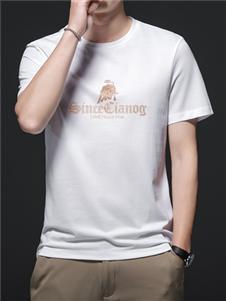 PLOVER啄木鸟白色印花T恤