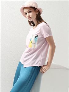 2021約布夏裝粉紫T恤