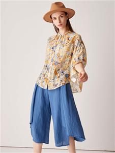 2021約布夏裝藍色短褲