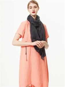 2021約布夏裝橙色連衣裙