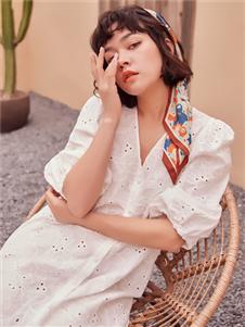 2021TITI夏裝新款白色連衣裙