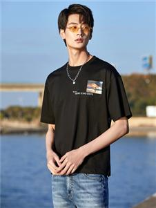 2021KIKC夏装黑色T恤