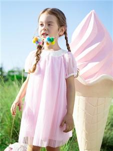 2021蒙蒙摩米夏装新款粉色连衣裙