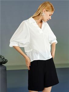 2021婕依妮女裝白色小衫
