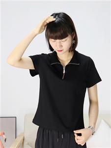 2021靓漫蒂夏装黑色T恤