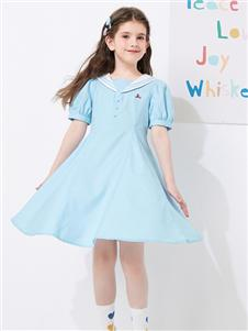 2021昕季雨夏装水蓝连衣裙