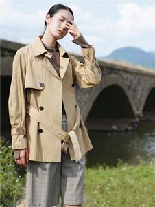 底色新款時尚風衣外套