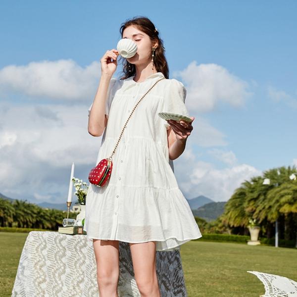 炎炎夏日,春美多这几款白色连衣裙凉爽一夏