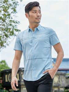 百斯盾新款浅蓝色POLO衫