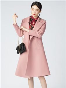 2021素羅依秋裝粉色外套