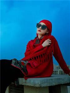 2021素羅依秋裝紅色外套