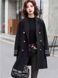 简诣2021秋装黑色外套