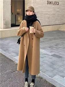 简诣2021秋装双面呢大衣