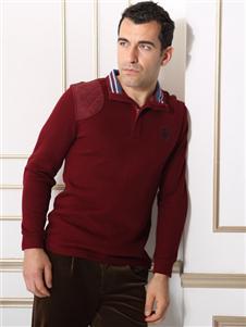 2021富紳男裝秋冬紅色打底衫