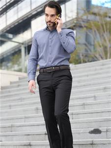 2021富紳男裝秋冬紫色襯衫