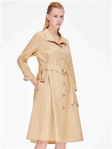 ZHUTI主提女装收腰系带大衣