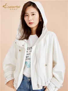 曼秀缤纷秋季新款白外套