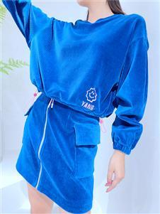 yy.MOL樱语茉莉蓝色时尚套装