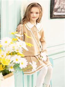 暇步士秋季新款女童套装