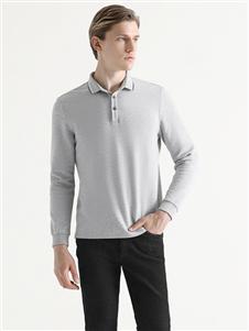 2021喬治邦尼秋裝灰色POLO衫