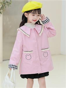 1+2=3童腾讯分分彩580583友好粉色时尚风衣