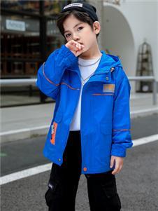 1+2=3童装秋季新款蓝色外套