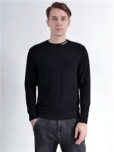 2021恩咖秋冬新品黑色上衣