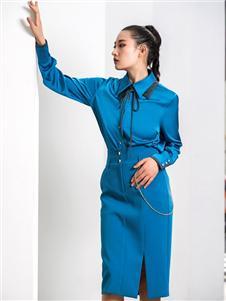 2021例格秋装蓝色衬衫