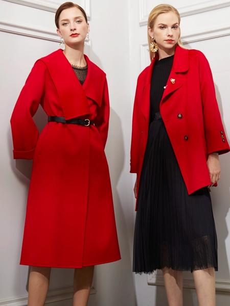 JAOBOO乔帛红色大衣