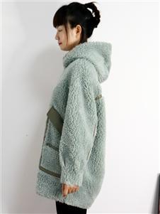 靓漫蒂女装2021靓漫蒂秋冬长款羊羔毛外套