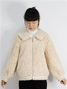 靓漫蒂女装2021靓漫蒂秋冬时尚羊羔毛外套