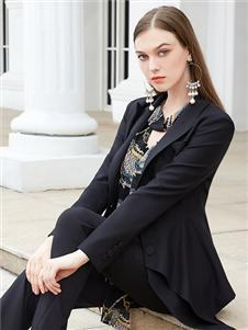 金蝶茜妮新款黑色西服套装