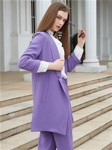 金蝶茜妮新款紫色大衣