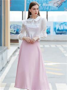 金蝶茜妮新款粉色半身裙